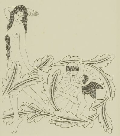 Eric Gill, 'Opening Page Vol.2; The Dancer', 1934