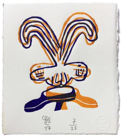 "Soeren Behncke, 'Double Bird (Mirroring Magritte's ""God is No Saint"" 1935-36)', 2017"