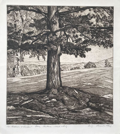 Luigi Lucioni, 'Beyond the Pine', 1963