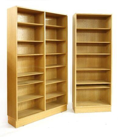 Hundevad, 'Two light oak open bookcases'