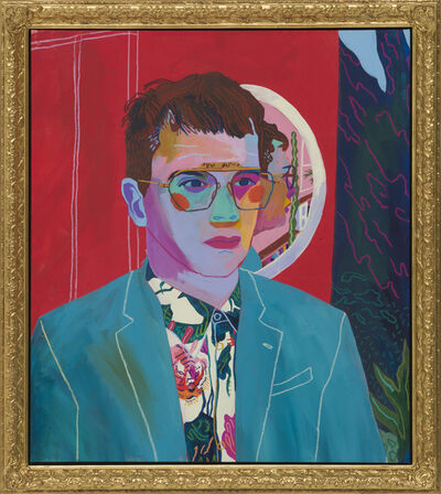 Andy Dixon, 'Self Portrait with Mirror ', 2018