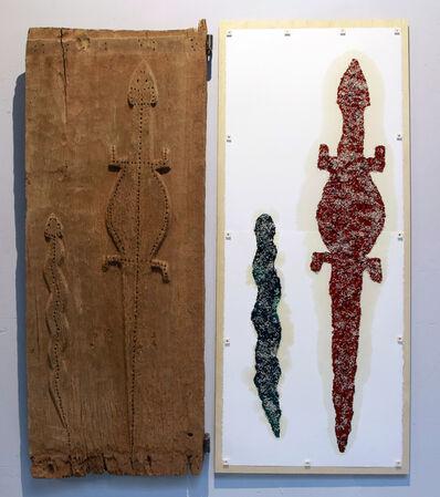 Sarkis, 'Retable avec la porte de case Dogon', 2014