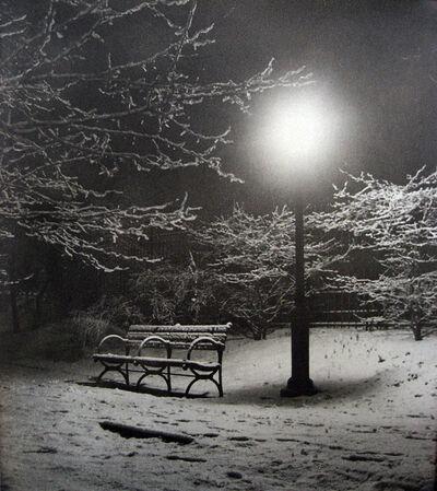 John Albok, 'Central Park (Bench in Snow)', 1933