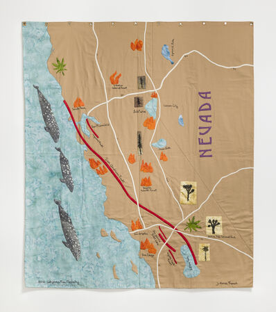 Jessie Homer French, '2016 California Fire Mapestry', 2016