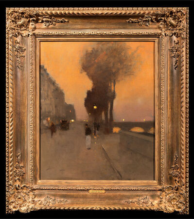 Luigi Loir, 'Quai de Bourbon, Paris', ca. 1900