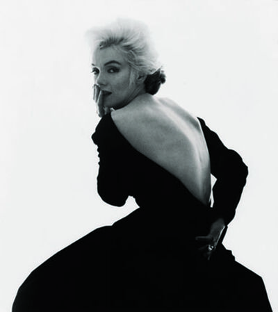 "Bert Stern, 'Marilyn Monroe: from ""The Last Sitting"" (Black dress, looking over shoulder)', 1962"