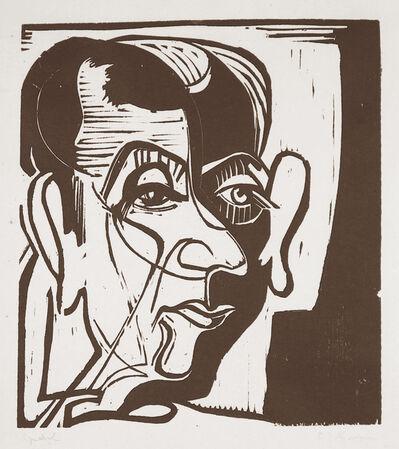 Ernst Ludwig Kirchner, 'Kopf Hans Arp (Head of Hans Arp)', 1929