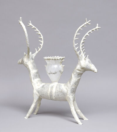 Shari Mendelson, 'Double Deer with Cup', 2019