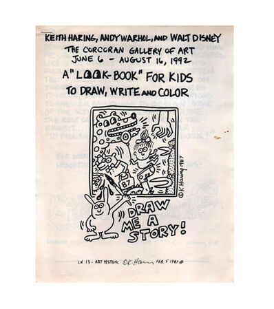 Keith Haring, 'Rare Keith Haring book (Keith Haring and Andy Warhol) ', 1992