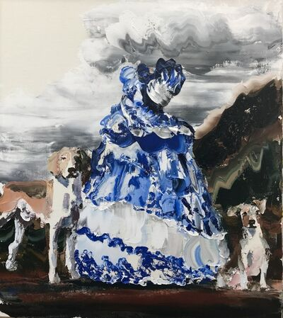 Paul Ryan, 'Colonial Girl, Blue and White', 2017