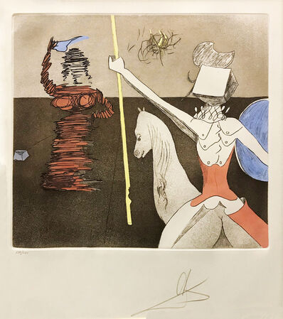 Salvador Dalí, 'OFF TO BATTLE', 1981