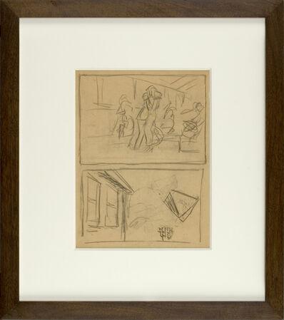Edward Hopper, 'Figure and House Sketch', ca. 1900