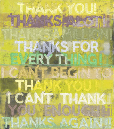 Mel Bochner, 'Thank You', 2019
