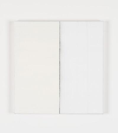 Callum Innes, 'Untitled Lamp Black Titanium White', 2019
