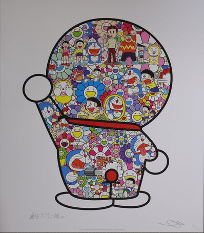 Takashi Murakami, 'Mr. Fujiko F. Fujio and Doraemon Are in the Field of Flowers', 2017