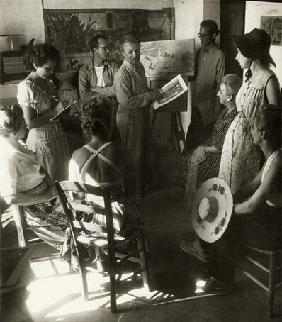 Willy Ronis, 'The Painter, probably Andre L'Hote, Holding Court in His Studio', 1948/1948