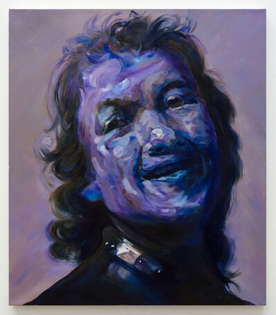 Maria Brunner, 'Blauer Rembrandt lachend, 10 Minuten später', 2017