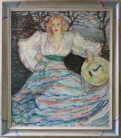 Dimitrie Berea, 'Woman in Striped Skirt', 1943