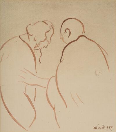 Jamini Roy, 'Gandhi and Tagore'