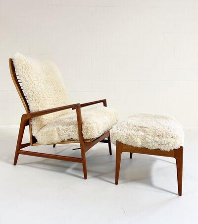 Ib Kofod-Larsen, 'Lounge Chair and Ottoman', 1960s