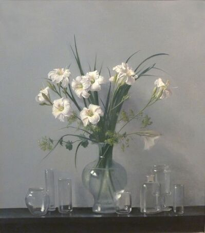 Raymond Han, 'Lilies with Reflective Glass Jars', 2009