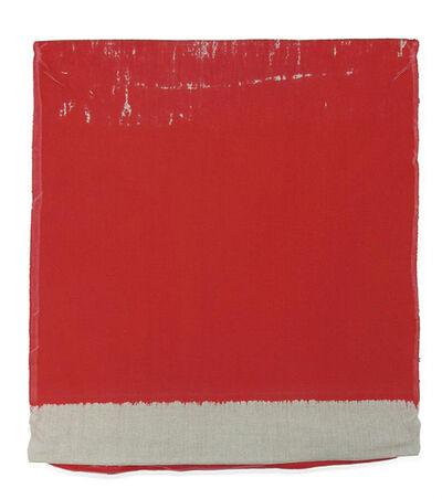 Analia Saban, 'Pressed Paint (Cadmium Red)', 2017