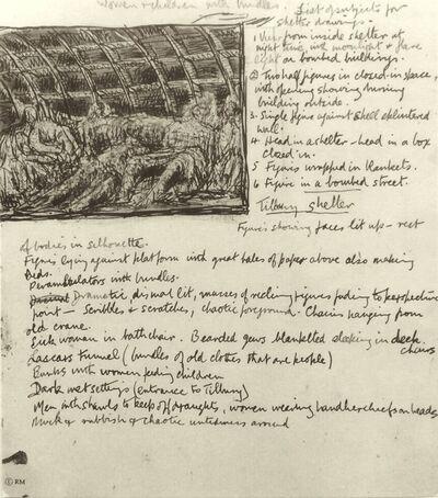 Henry Moore, 'Untitled  (Shelter Sketchbook)', 1967