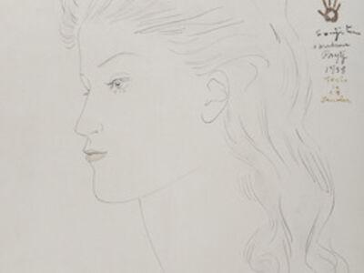 Léonard Tsugouharu Foujita, 'Portrait de femme de profil', 1958