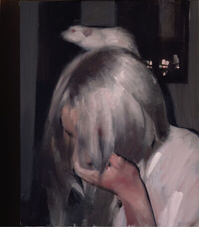 Mark Tennant, 'Girl with White Rat', 2019