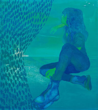 Dominic Chambers, 'By the Waters (Azza in Blue)', 2019