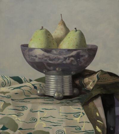 Olga Antonova, 'Pears in a Metal Vase', 2021
