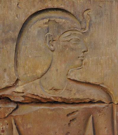 Joseph Lindon Smith, 'Painted Copy of an Egyptian Relief: A Prince'