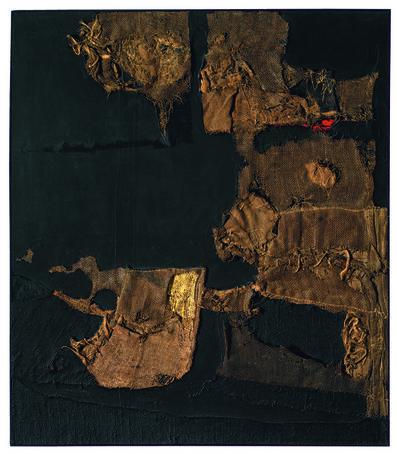 Alberto Burri, 'Sacco e oro (Sack and Gold)', 1953