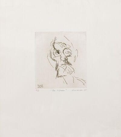 Frank Auerbach, 'Joe Tilson (Hartley 9)', 1980