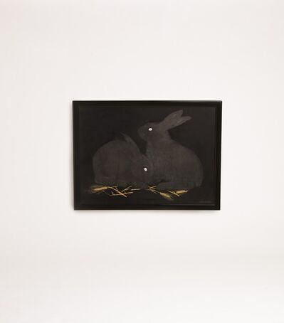 Jean Dunand, 'Lacquered Panel Depicting Rabbits', ca. 1926