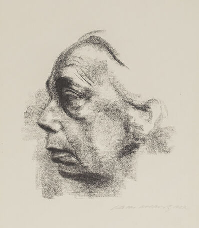 Käthe Kollwitz, 'Self-Portrait in Profile', 1927