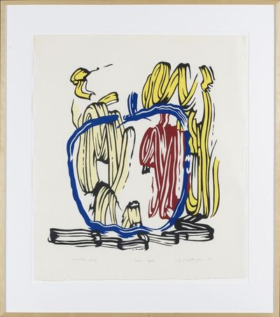 Roy Lichtenstein, 'Vertical Apple unique exhibition proof', 1982