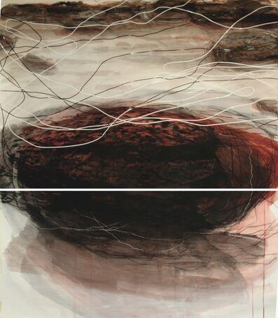 Sara Dudman RWA, 'Kittiwakes (Fallen Rock, Cowbar 2)', 2016