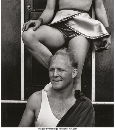 John Gutmann, 'Aerialists, San Francisco and Out of the Pool, San Francisco (two photographs)', 1938; 1934