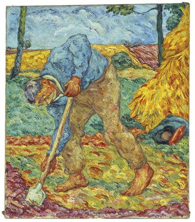 Heinrich Nauen, 'Grabender Bauer', 1908