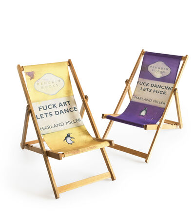 Harland Miller, 'Fuck Art Let's Dance/Fuck Dancing Lets Fuck (Deck Chair's)', 2013