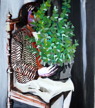Hanna Ilczyszyn, 'Girl with a plant', 2014