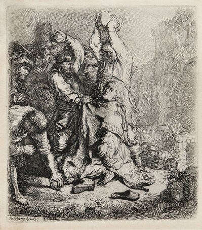 Rembrandt van Rijn, 'The Stoning of St. Stephen', 1635