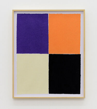 Ethan Cook, 'Purple, orange, white, black', 2020
