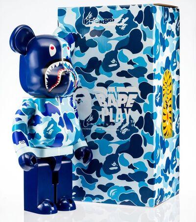 BE@RBRICK X BAPE, 'Camo Shark 1000% (Blue)', 2018