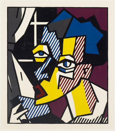 Roy Lichtenstein, 'The Student from the Expressionist Woodcut Series', 1980