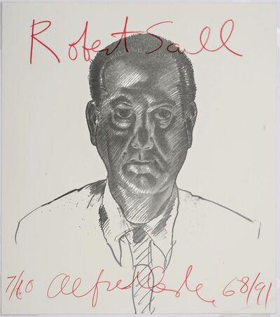 Alfred Leslie, 'Portrait of art collector Robert Scull, 1968 (from Elaine de Kooning Memorial Portfolio)', 1991