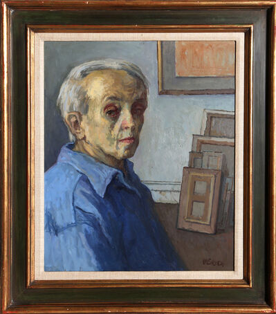 Moses Soyer, 'Self-Portrait in Studio', ca. 1960