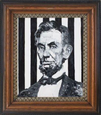 Hunt Slonem, 'Lincoln', 2034