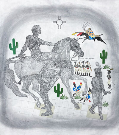 Umar Rashid (Frohawk Two Feathers), 'The Billie Jean Project: Sonoran Desert War (Vengeance part 1)', 2020